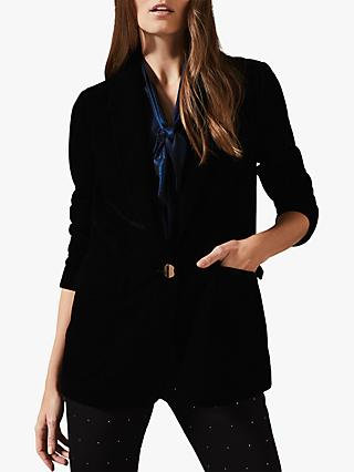 Phase Eight Aylin Velvet Jacket, Black