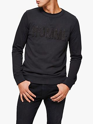 SELECTED HOMME Logo Sweatshirt, Black