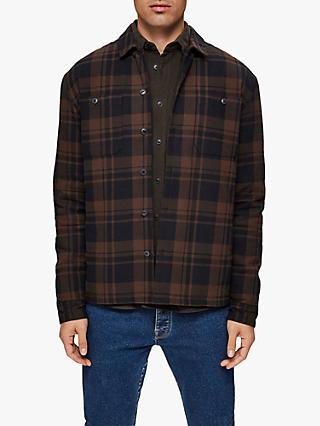 SELECTED HOMME Workwear Inspired Shirt Jacket, Brown