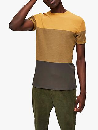 SELECTED HOMME Colour Block T-Shirt, Chai Tea Melange