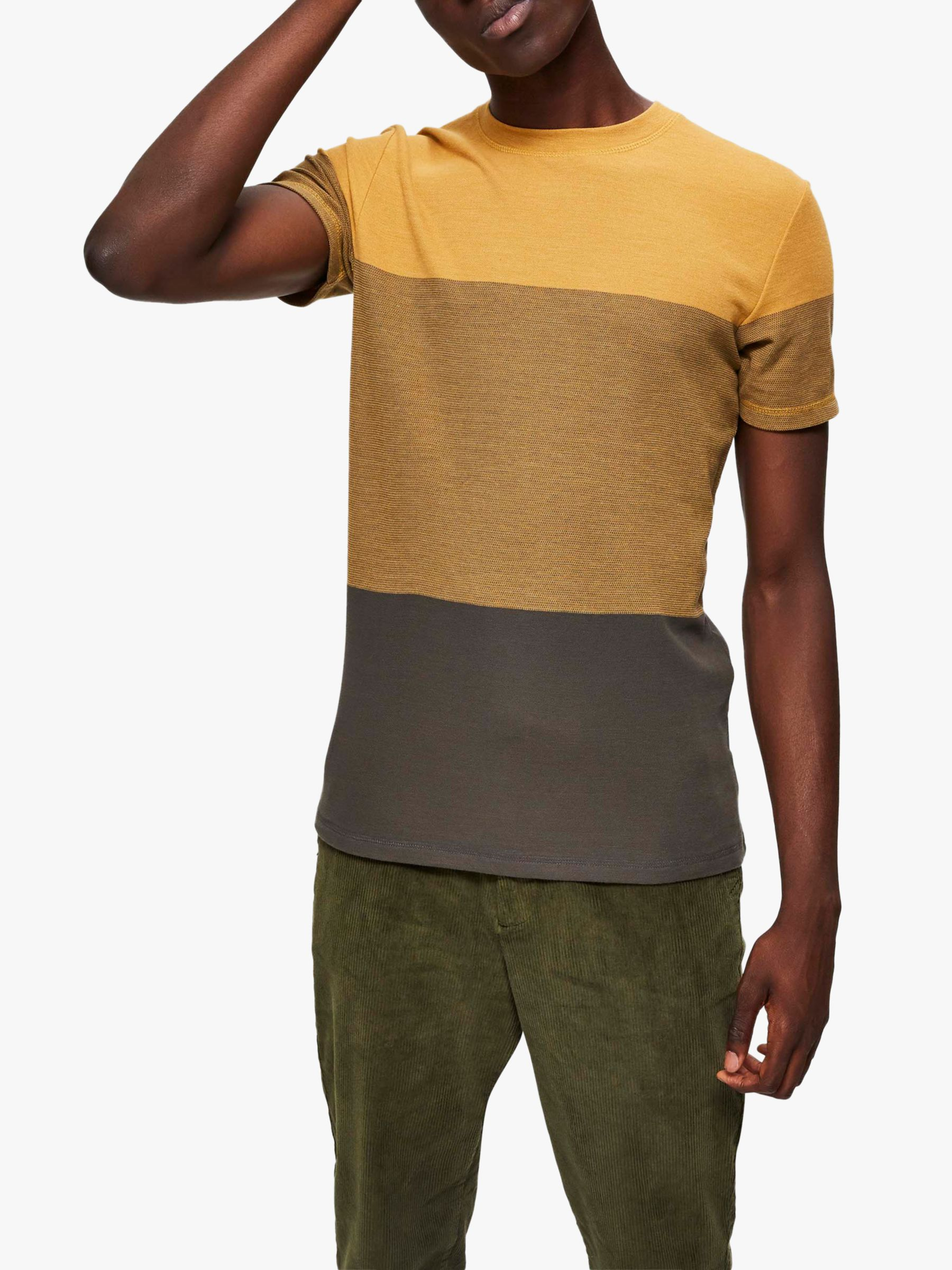 Selected Homme SELECTED HOMME Colour Block T-Shirt, Chai Tea Melange