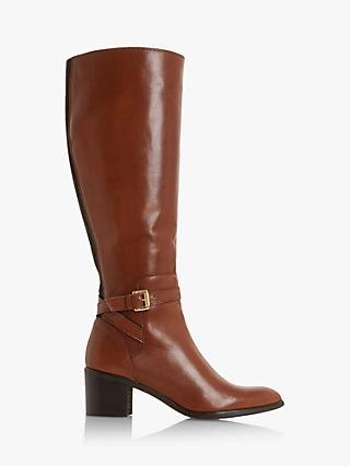 Dune Temple Knee High Leather Boots