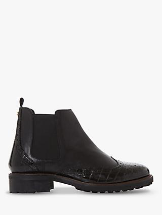 Dune Quarters Leather Chelsea Boots