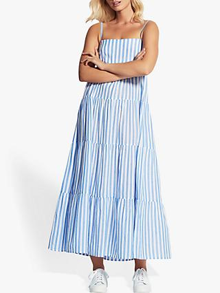 Seafolly Stripe Tiered Dress, Chambray