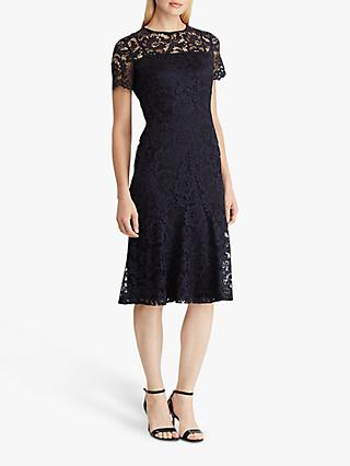 Lauren Ralph Lauren Loki Lace Dress, Lighthouse Blue