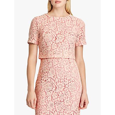 Lauren Ralph Lauren Jeri Floral Lace Dress, Pink Macaron