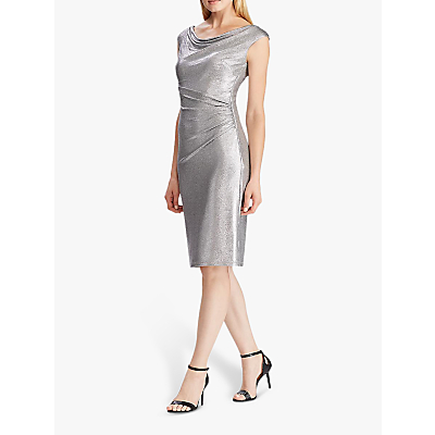 Lauren Ralph Lauren Lovella Cocktail Dress, Dark Grey/Silver