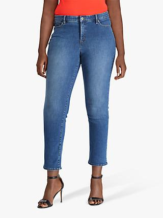 Lauren Ralph Lauren Curve Premier Straight Leg Jeans, Harbour Wash Denim