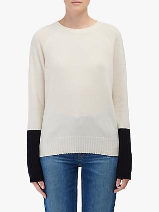 Duffy Contrast Sleeve Cashmere Jumper