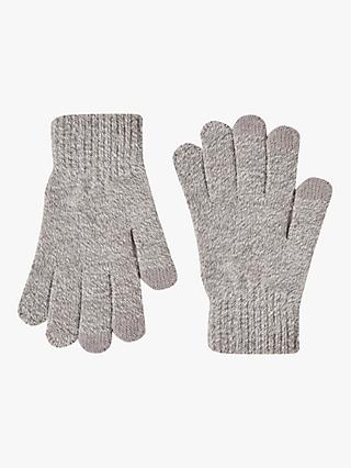 French Connection Touch Screen Gloves, Light Grey