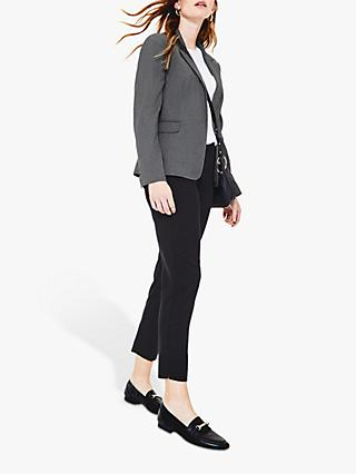 Oasis Workwear Blazer Jacket, Mid Grey