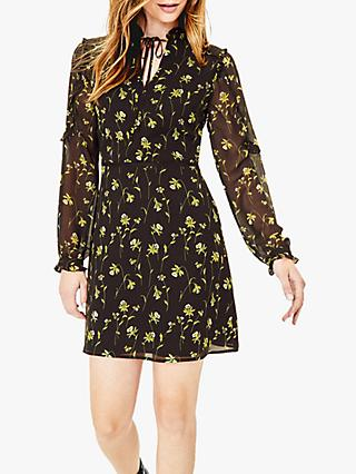 Oasis Daffodil Lace Mini Dress, Black