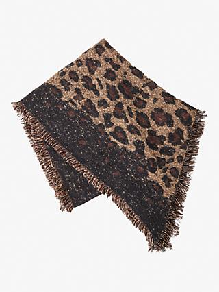 French Connection Leopard Scarf, Multi