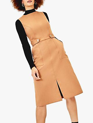 Oasis Sleeveless Utility Midi Dress, Neutral