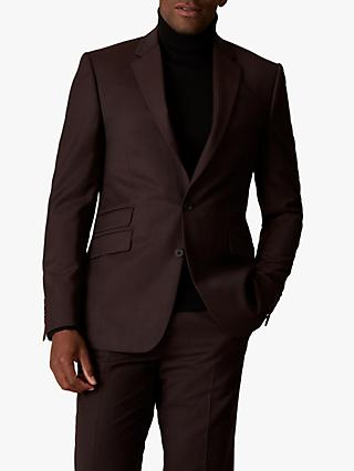 Jaeger Wool Flannel Slim Fit Suit Jacket, Burgundy