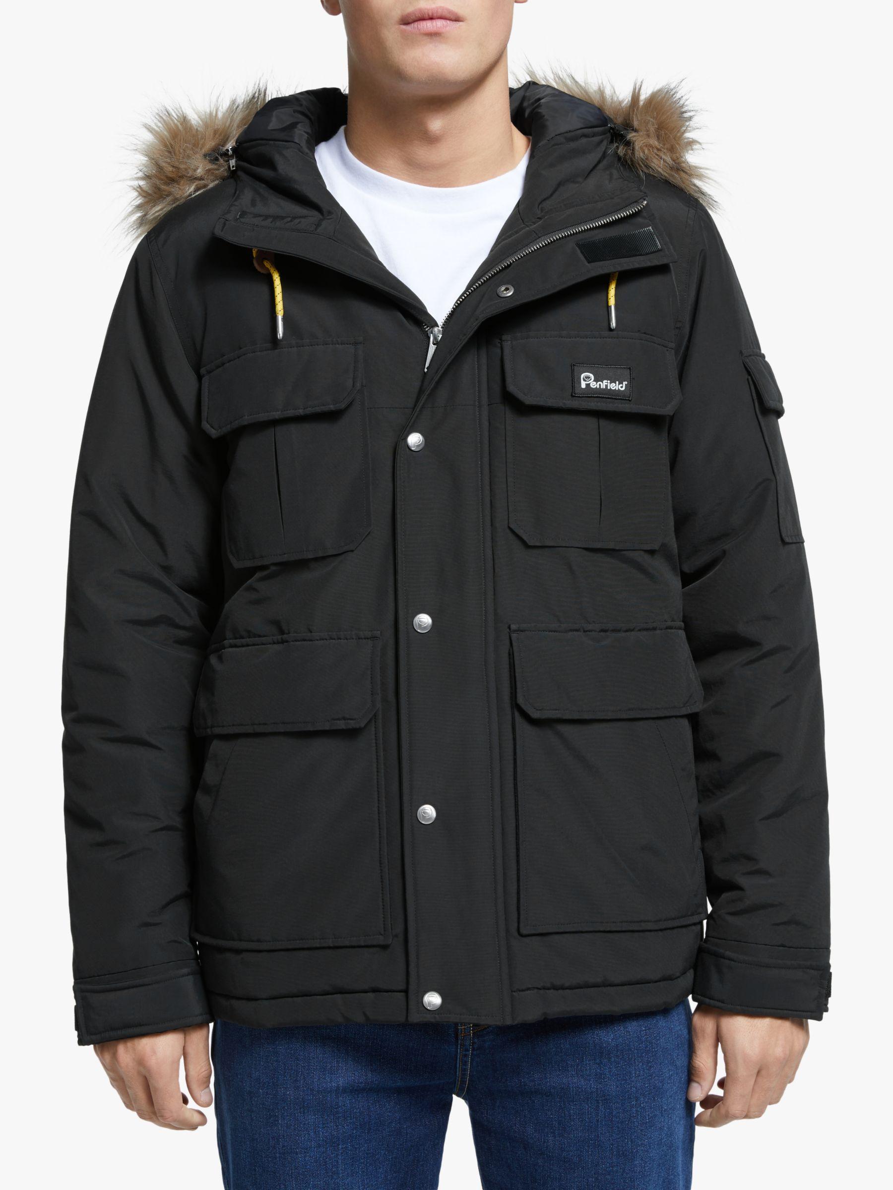 Penfield Penfield Lansing Parka Jacket, Black