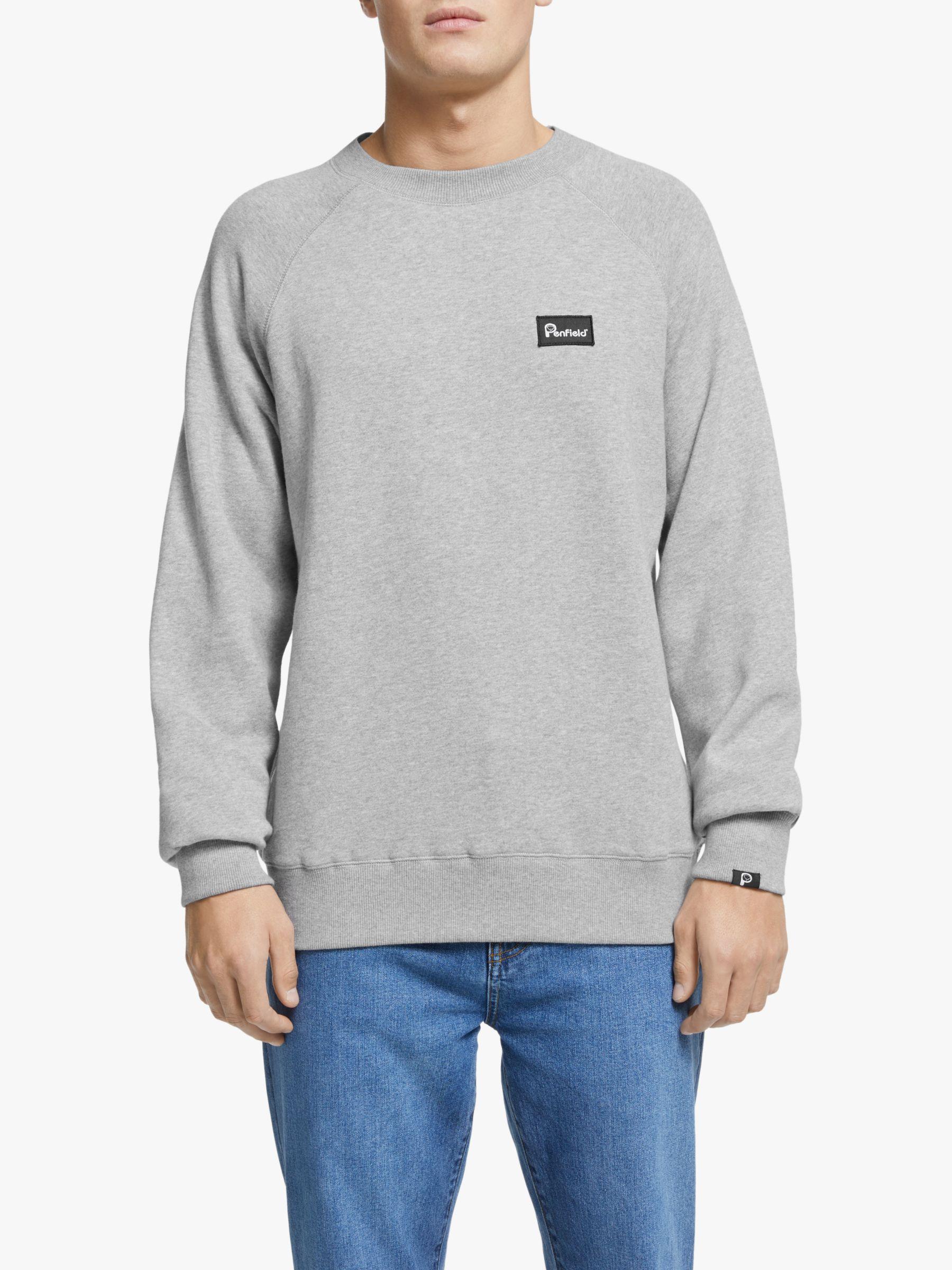 Penfield Penfield Errol Crew Sweatshirt, Grey Marl