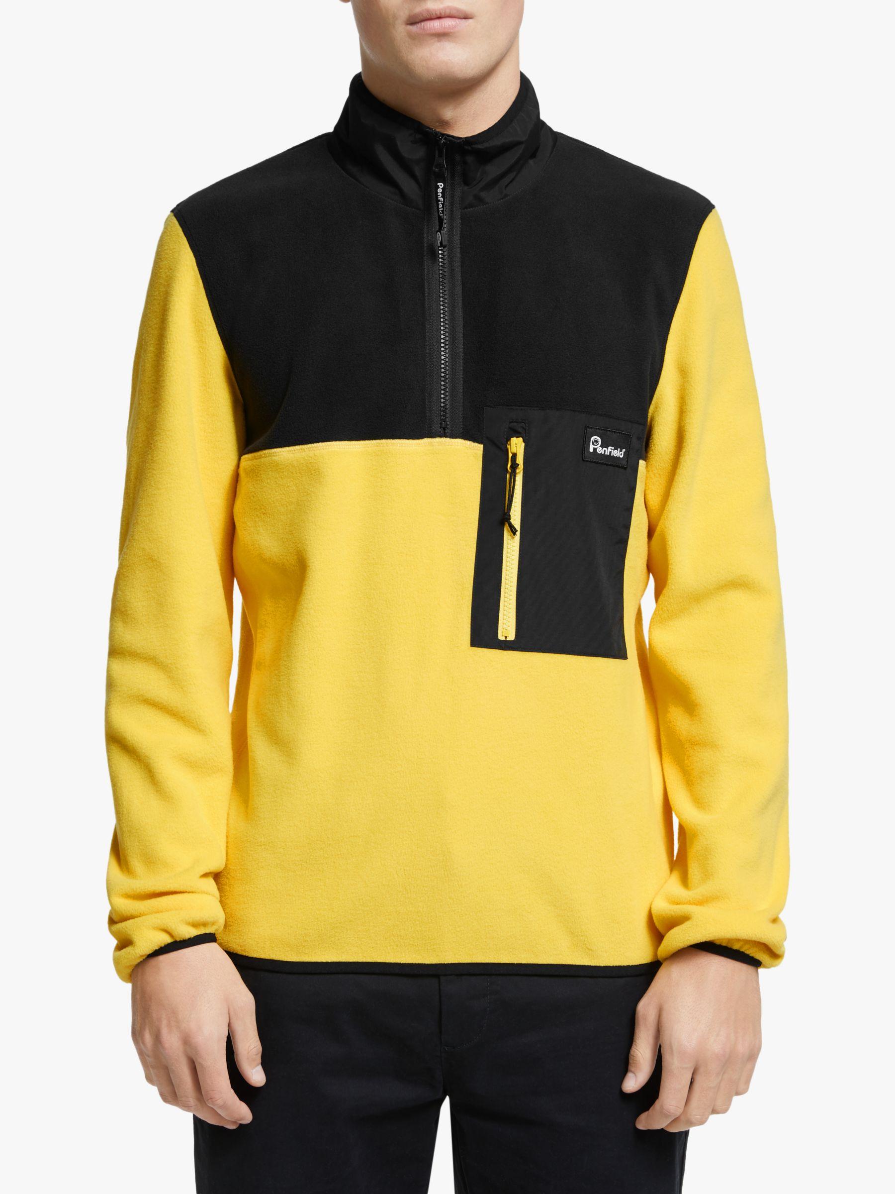 Penfield Penfield Hynes Half Zip Men's Fleece, Freesia Yellow