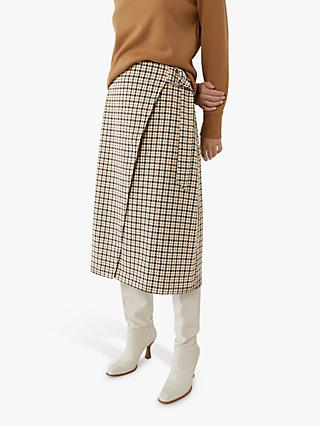 Warehouse Check Midi Skirt