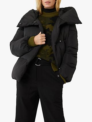 Warehouse Hooded Puffer Jacket, Black