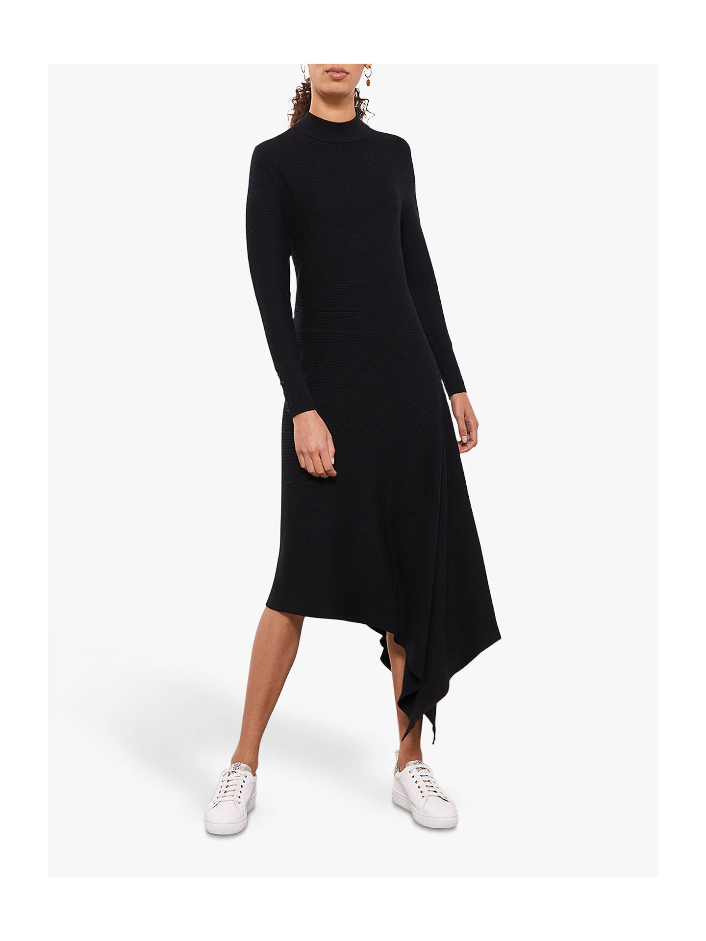 wholesale dealer hot sale online professional Mint Velvet Midi Jumper Dress, Black