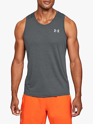 Under Armour Streaker Running Vest, Pitch Grey