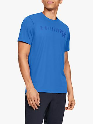 Under Armour Speed Stride Graphic Short Sleeve Running Top, Versa Blue