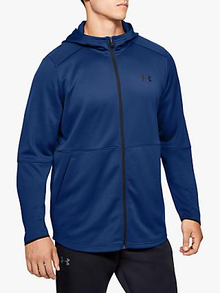 Under Armour MK-1 Warm-Up Full Zip Training Hoodie, Ame Blue/Black