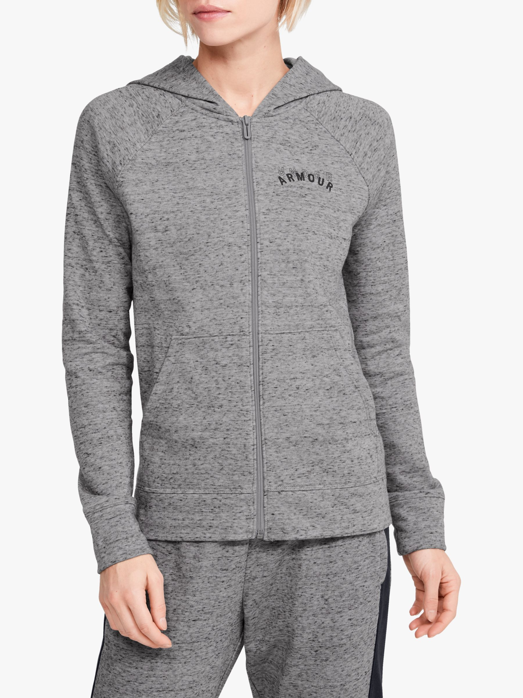 Under Armour Under Armour Rival Terry Full Zip Training Hoodie, Steel Heather