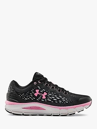 Under Armour Charged Intake 4 Women's Running Shoes, Black/Grey/Lipstick