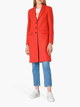 PS Paul Smith Epson Single Breasted Coat, Brick