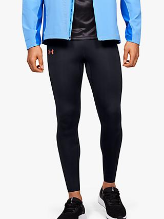 Under Armour Qualifier Speedpocket Perforated Running Tights, Black/Beta
