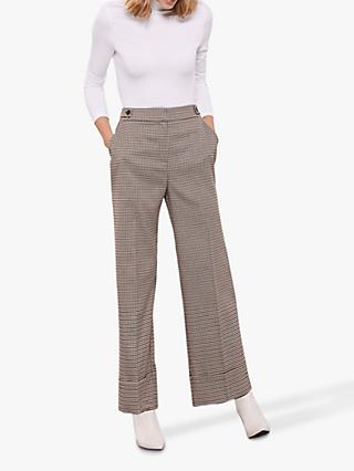 Mint Velvet Bootcut Check Trousers, Multi