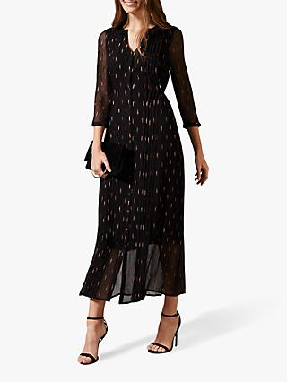 Phase Eight Sparkle Maxi Dress, Black