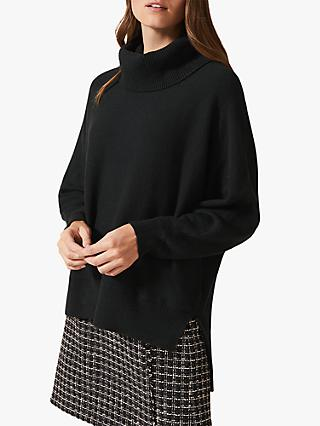Phase Eight Palmer Cowl Neck Jumper, Galactic Green