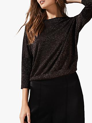Phase Eight Allison Cross Back Knit Jumper, Bronze