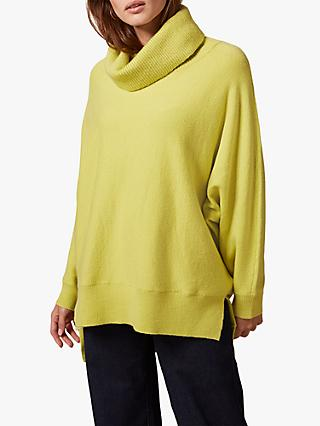 Phase Eight Palmer Cowl Neck Jumper, Lime