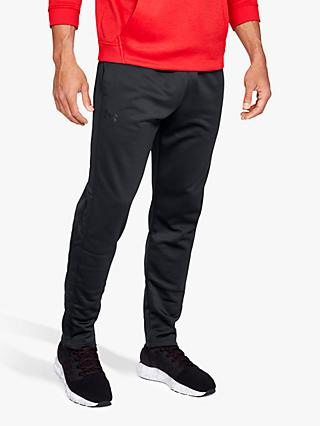 Under Armour Fleece Tracksuit Bottoms, Black