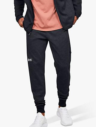 Under Armour Double Knit Fleece Jogging Bottoms, Black/Onyx White