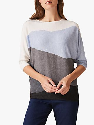 Phase Eight Larisa Landscape Jumper, Pale Blue