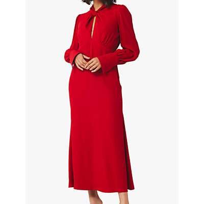 Ghost Julia Satin Dress, Chilli Pepper