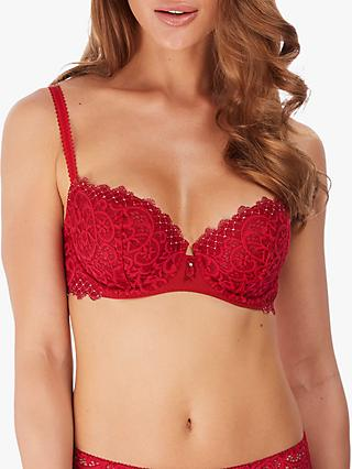 Wacoal Lace Essential Balcony Bra, Red