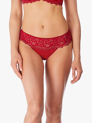 Wacoal Lace Essential Tanga Briefs, Red