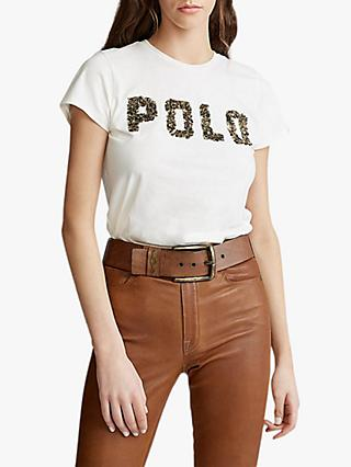 Polo Ralph Lauren Polo Embellished Logo T-Shirt, Nevis