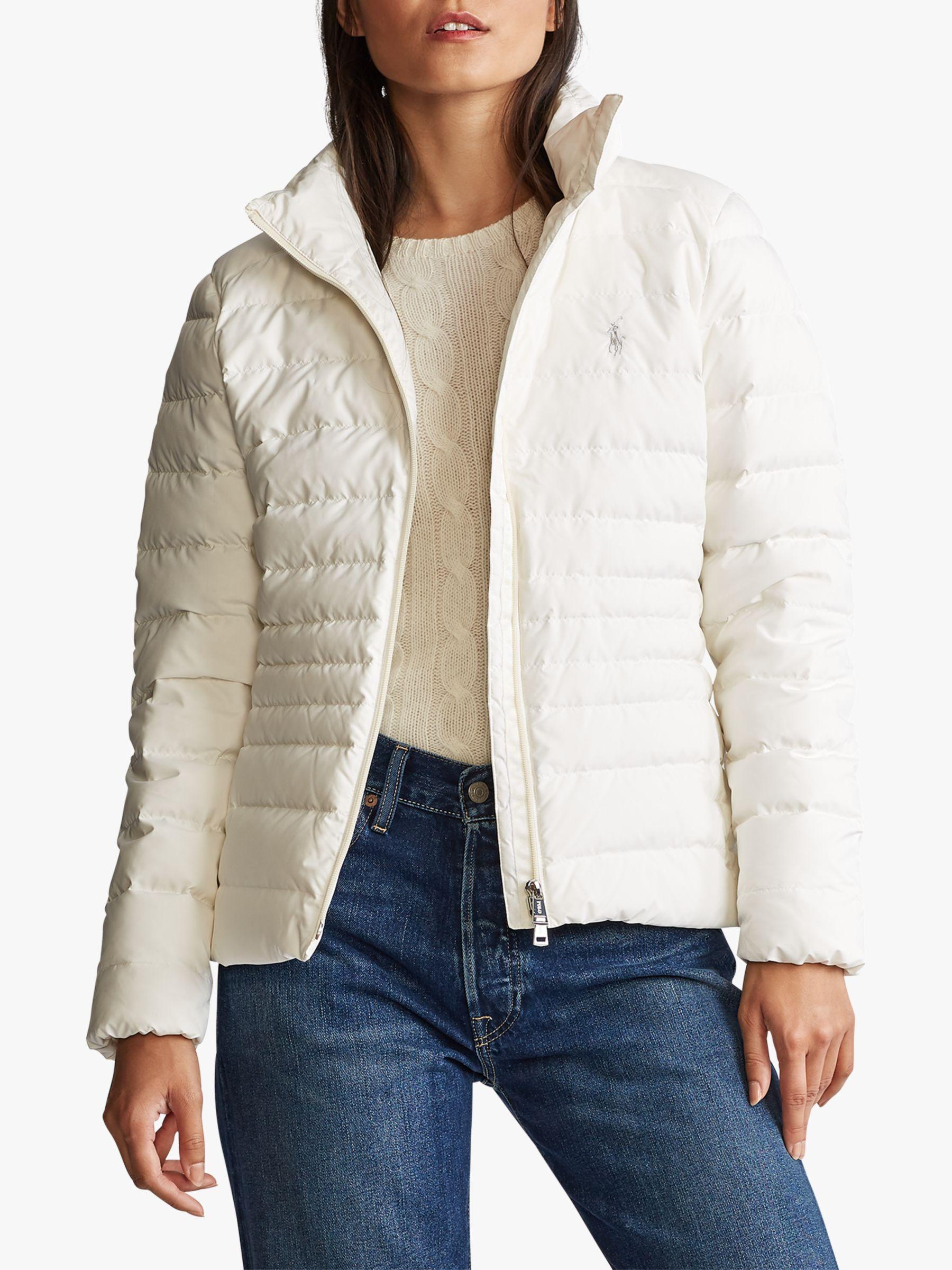Ralph Lauren Polo Ralph Lauren Funnel Neck Down Fill Jacket, Warm White