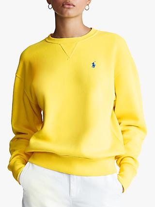 Polo Ralph Lauren Fleece Back Sweatshirt, Lemon Crush