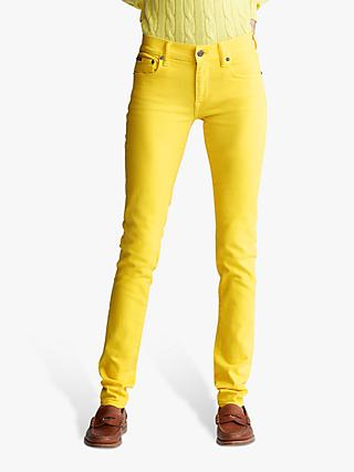Polo Ralph Lauren Tompkins Skinny Jeans, Yellow