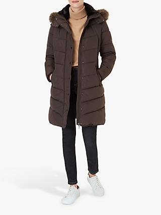 Hobbs Lillian Puffer Coat, Dark Chocolate