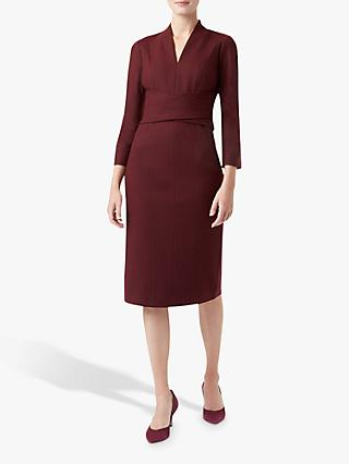 Hobbs Teresa Wool Dress, Burgundy