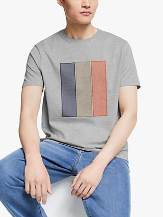 Kin Block Print T-Shirt, Grey